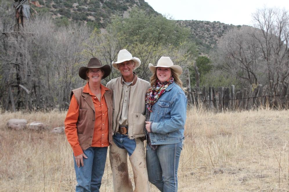 L to R: My mom, grandpa Warner and myself