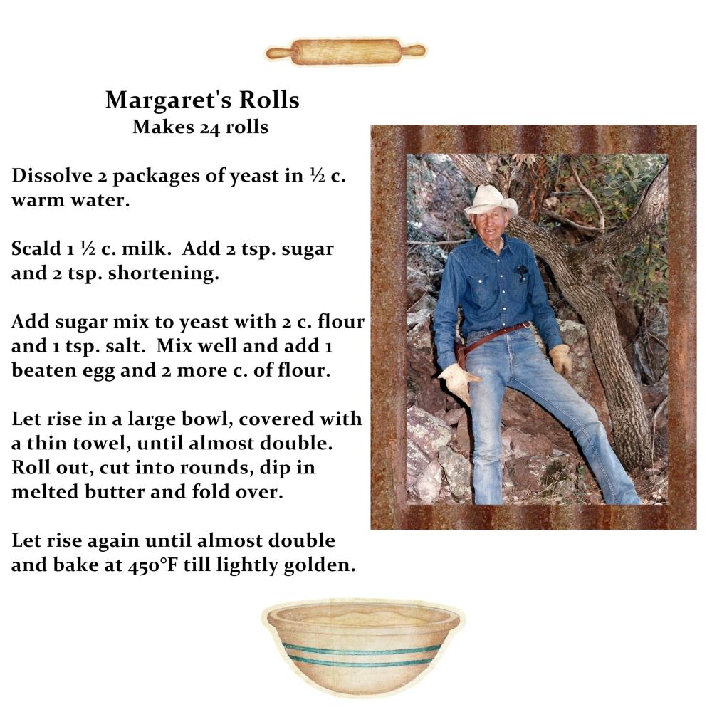 Recipe- Margaret's Rolls