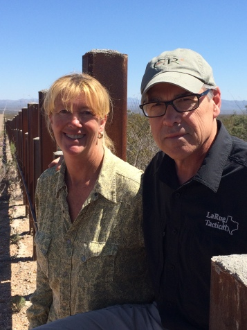 Mom and Rick on the border