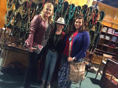 Hannah and I with the beautiful Jenny of J. Forks Designs, featured in the Leddy's booth!
