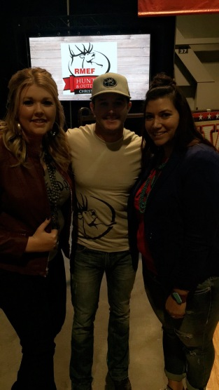 Hannah and I with Easton Corbin! Bad lighting, great memory!